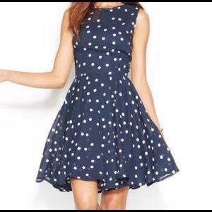 COPY - Maison Jules Polka Dot Fit n Flare Dress